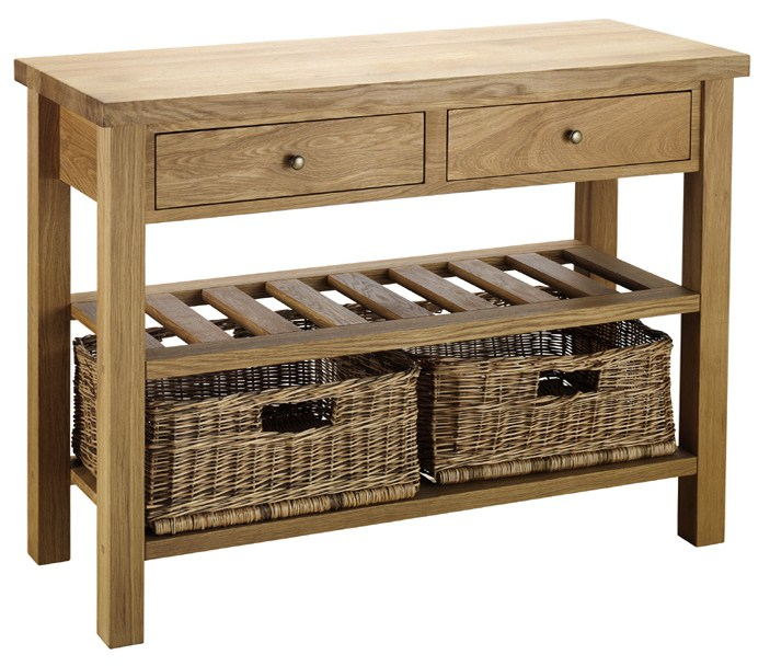 Superieur Double Basket Console Table