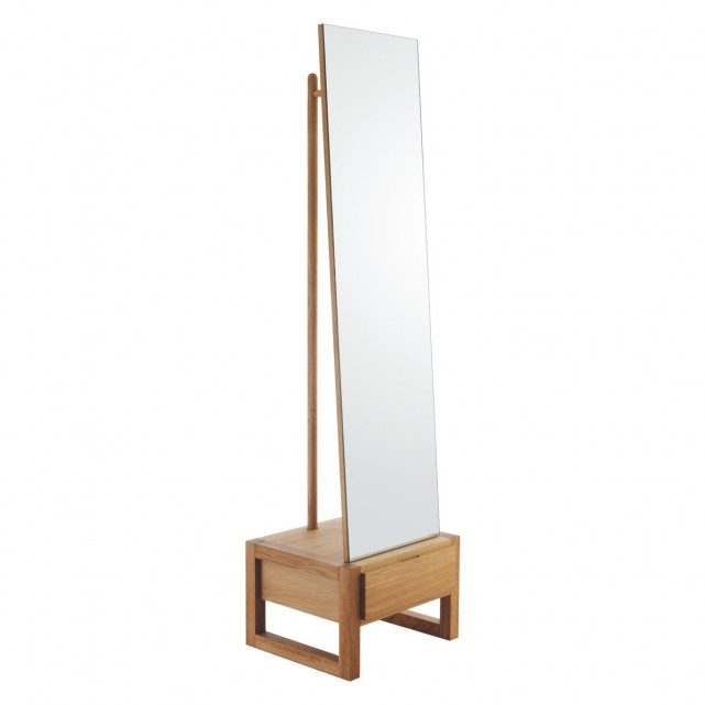Hana II Freestanding Mirror With Storage